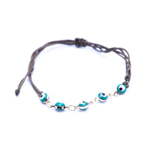 Bracelet cordon suede vert