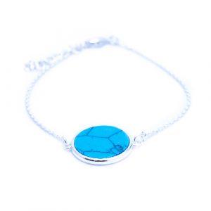 Bracelet jeton turquoise