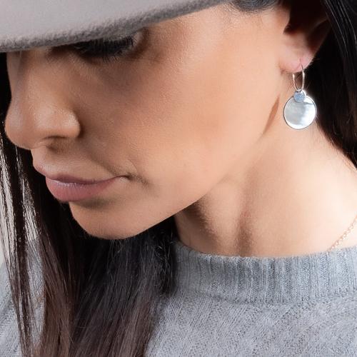 Boucles d'oreilles jeton nacre