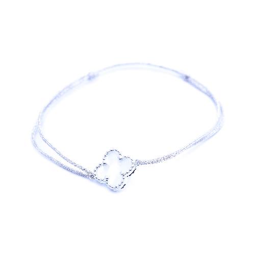 Bracelet cordon nacre
