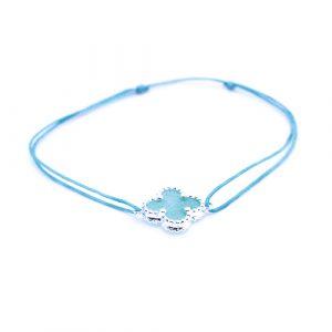 Bracelet cordon aventurine argent