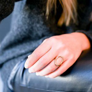 Bague ovale doré
