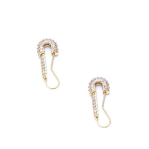 Boucles d'oreilles rock doré