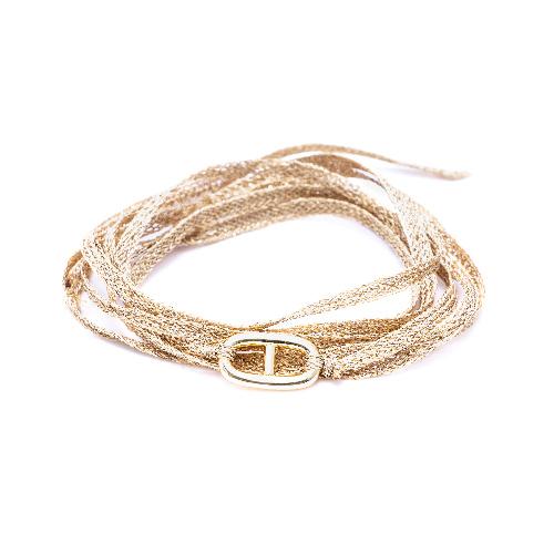 Bracelet multi tours maillon doré