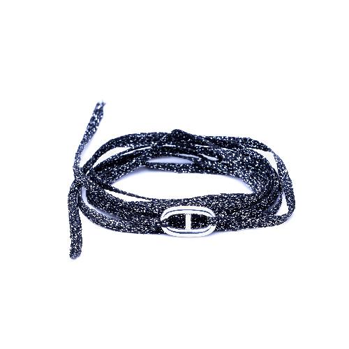 Bracelet multi tours maillon argent