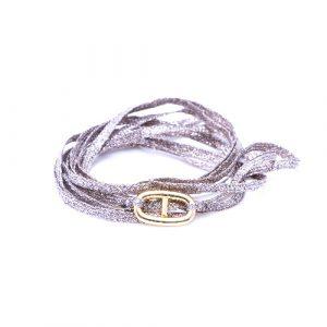 Bracelet multi-tours maillon doré