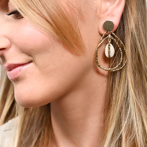 Boucles d'oreilles joya doré