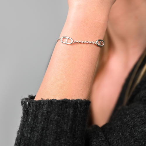 Bracelet maillon argent