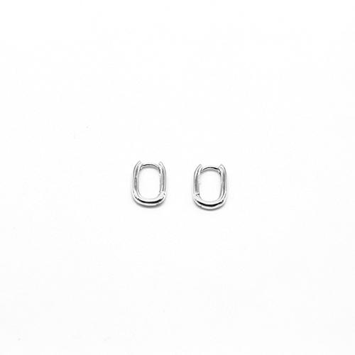 Mini créoles rectangulaires