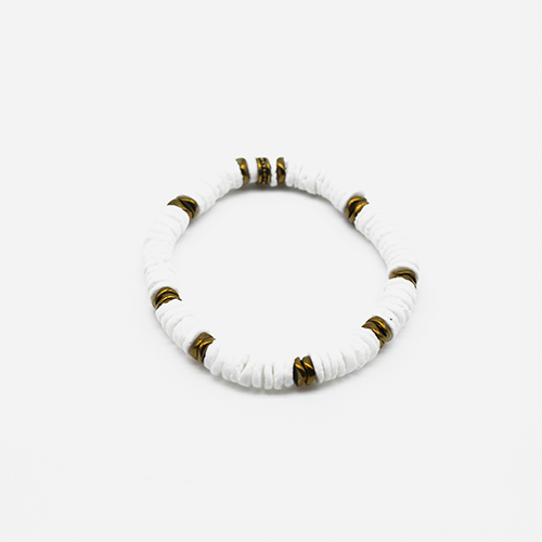 Bracelet coquillage blanc