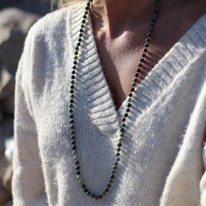 Sautoir perles turquoise d'Afrique