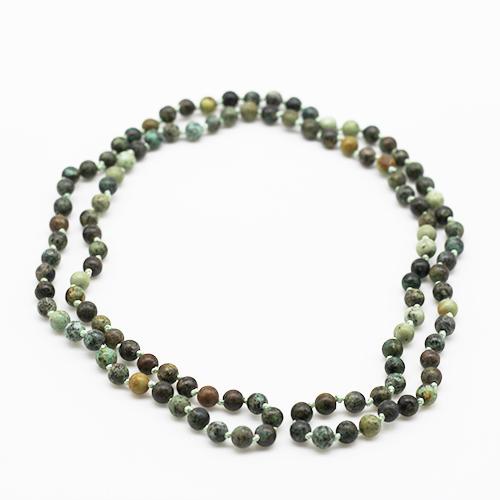Sautoir perles amazonite
