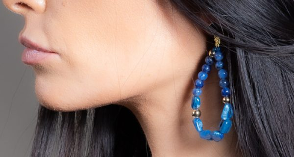 Boucles d'oreilles nixie marin